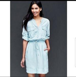 {GAP} Chambray Utility Dress